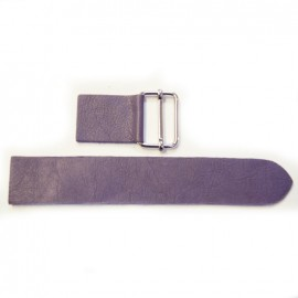 Leather strap with sliding bar adjuster, Prown - purple