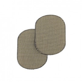 Carreaux elbow-pads/knee-pads Iron on - gingham brown