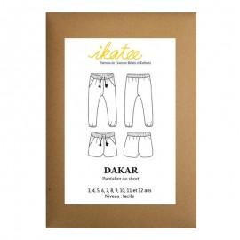 Patron Ikatee DAKAR - pantalon fluide : de 3 à 10 ans