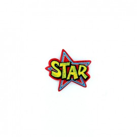 Comic Strip iron-on patch - star