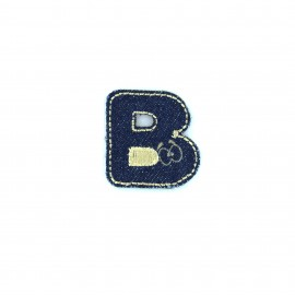 Sticker / Thermocollant Jeans Chiffres & lettres - B