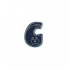 Sticker / Thermocollant Jeans Chiffres & lettres - C