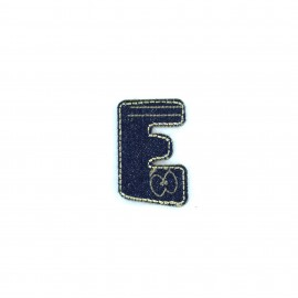 Sticker / Thermocollant Jeans Chiffres & lettres - E