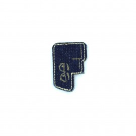 Sticker / Thermocollant Jeans Chiffres & lettres - F