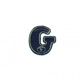 Sticker / Thermocollant Jeans Chiffres & lettres - G