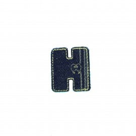 Sticker / Thermocollant Jeans Chiffres & lettres - H