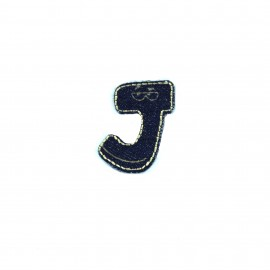 Sticker / Thermocollant Jeans Chiffres & lettres - J