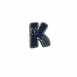 Numbers and Letters Denim Iron-on patch / Sticker - K