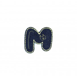 Numbers and Letters Denim Iron-on patch / Sticker - M