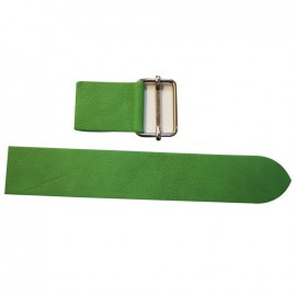 Leather strap with sliding bar adjuster, Smint - green