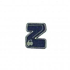 Numbers and Letters Denim Iron-on patch / Sticker - Z