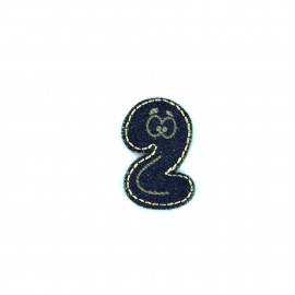Numbers and Letters Denim Iron-on patch / Sticker - 2
