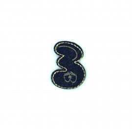 Numbers and Letters Denim Iron-on patch / Sticker - 3
