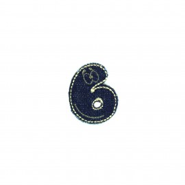 Numbers and Letters Denim Iron-on patch / Sticker - 6