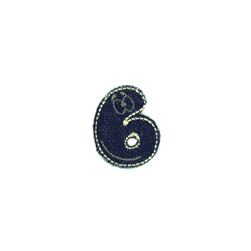 Sticker Thermocollant Chiffresamp; Lettres Jeans 6 CxeBQoWrd