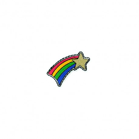 Cool kid iron-on patch - shooting star