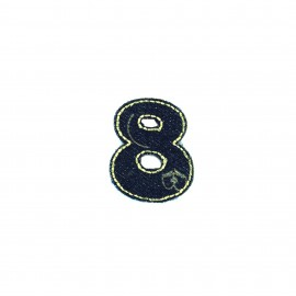 Numbers and Letters Denim Iron-on patch / Sticker - 8