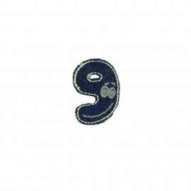 Numbers and Letters Denim Iron-on patch / Sticker - 9