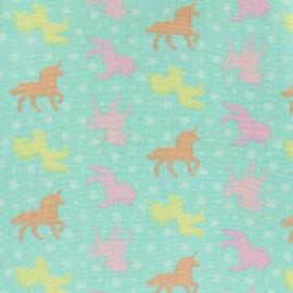 Cotton  Girly unicorns fabric - pastel x 10cm