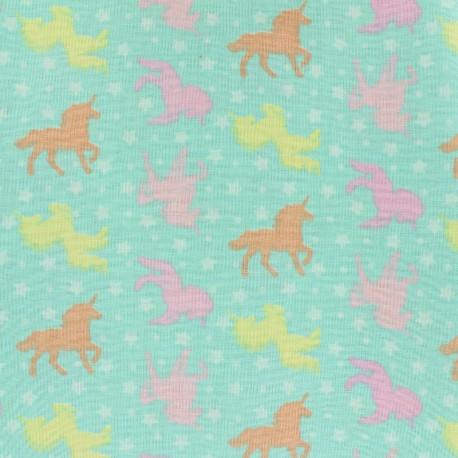 Tissu coton Girly unicorns - pastel x 10cm