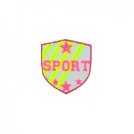 Thermocollant Écusson sport - rose fluo