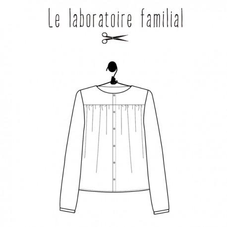Patron Le laboratoire familial blouse - Jane