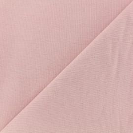 Tissu coton sergé vintage - rose poudre x 10cm