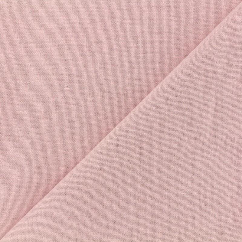 tissu toile de coton uni demi natt vintage rose poudre. Black Bedroom Furniture Sets. Home Design Ideas