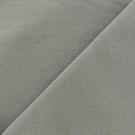 Tissu toile de coton uni Demi Natté Vintage - gris x 10cm