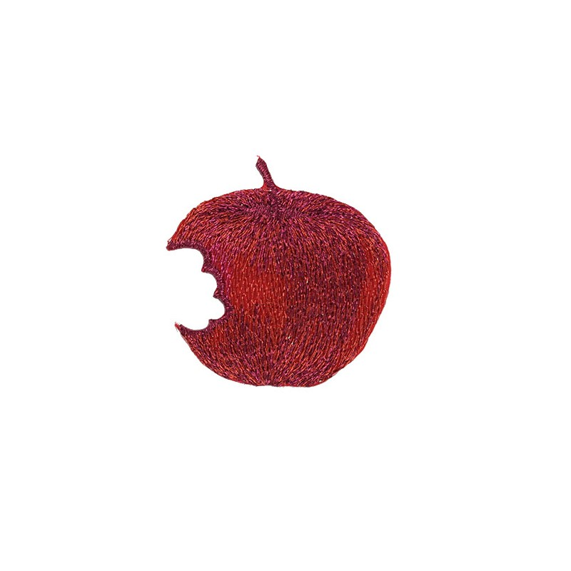 Jardin d 39 hiver embroidered iron on patch red apple for Jardin d hiver