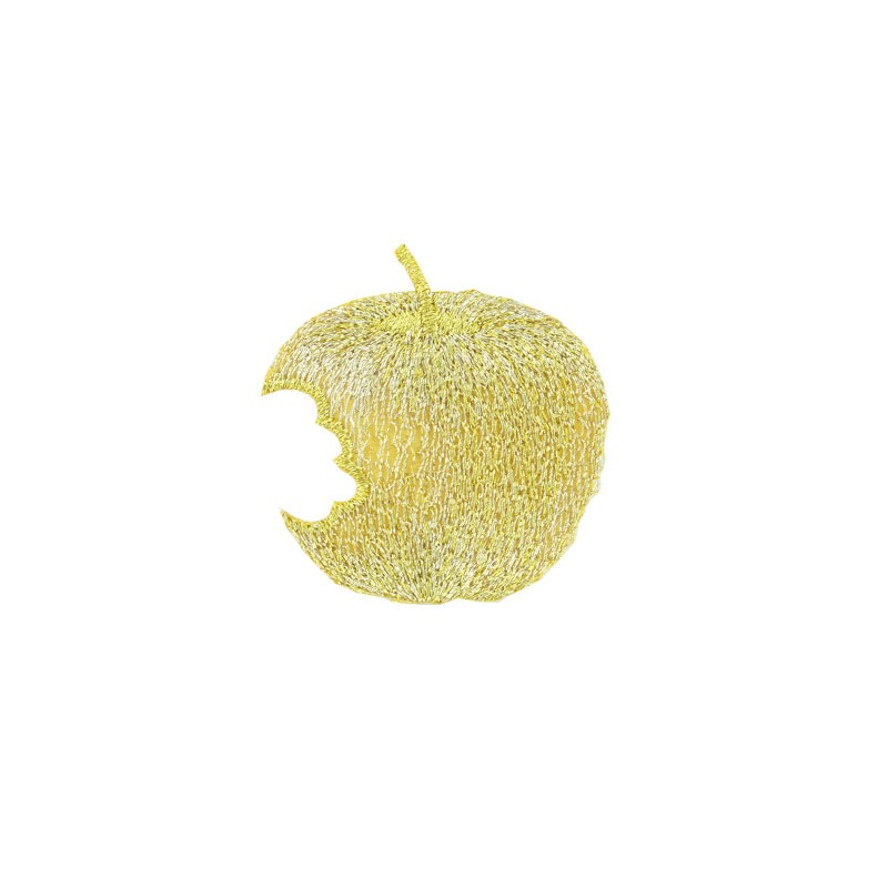 Jardin d 39 hiver embroidered iron on patch golden apple for Jardin d hiver