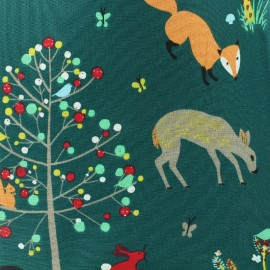Tissu coton Fable - vert foncé x 32cm