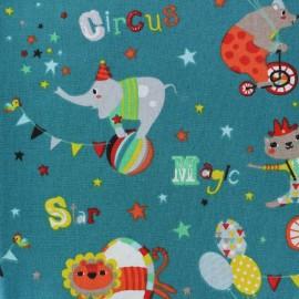 Tissu coton Circus - vert x 22cm