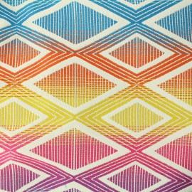 ♥ Coupon 15 cm X 140 cm ♥ Tissu jacquard tissé Yoga - Multicolore
