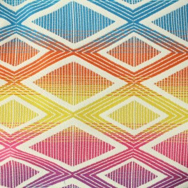 ♥ Coupon 15 cm X 140 cm ♥ Woven jacquard Yoga - multicolor