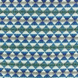 ♥ Coupon 350 cm X 140 cm ♥ Woven jacquard woven dyed Teka - azur