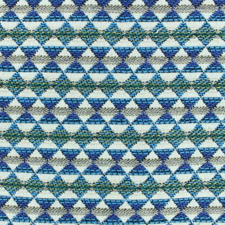 Woven jacquard woven dyed Teka - azur x 10cm