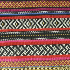 Tissu jacquard tissé teint Durban - Fuchsia x 35cm