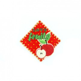 Petit Faubourg embroidered iron-on patch - fruit