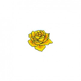 Thermocollant brodé Infusion florale - rose jaune