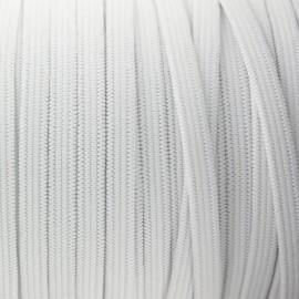 Élastique plat tissé blanc 5 mm