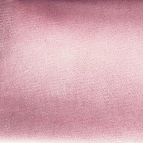 Tissu velours Brunei - rose poudré x 10cm