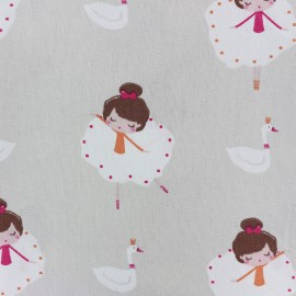 Tissu coton Ballet dancer - gris x 32cm