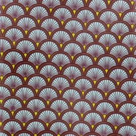 Tissu coton enduit brillant Doucet - bleu clair x 10 cm
