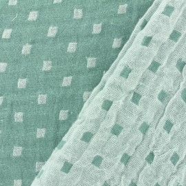 Double gauze fabric Squares double sided - vert x 10cm