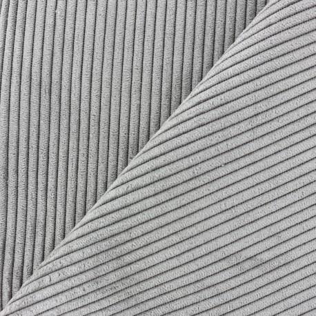 Lisboa corduroy fabric - grey x 10cm