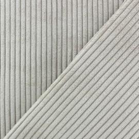 Tissu velours à grosses côtes Lisboa - grège x10cm