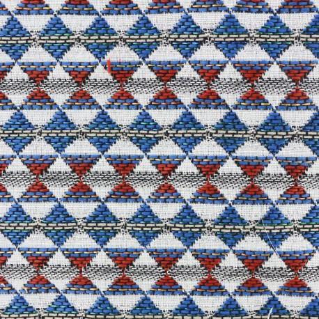 Woven jacquard woven dyed Teka - red/blue x 10cm