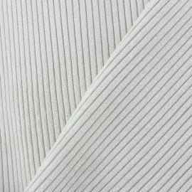 Tissu velours à grosses côtes Lisboa - crème x10cm