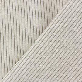 Tissu velours à grosses côtes Lisboa - beige x10cm